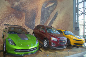 GM cars Chevrolet Camaro, Corvette Stingray C7 concept and Chevrolet Sonic RS