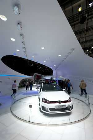 Golf GTI on display