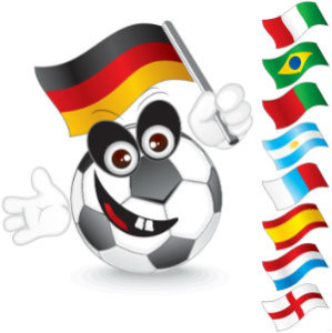 Soccer Ball With A German Flag